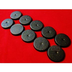 10x 25mm Games Workshop Black Bases
